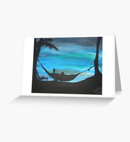sunset hammock Greeting Card
