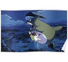 Beautiful Totoro - Digital Art Poster