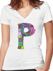 P is for Pat Women's Fitted V-Neck T-Shirt