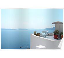 Santorini Caldera from Fira Poster