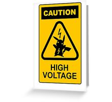 Pikachu high voltage pokemon Greeting Card