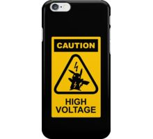 Pikachu high voltage pokemon iPhone Case/Skin