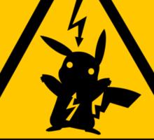 Pikachu high voltage pokemon Sticker
