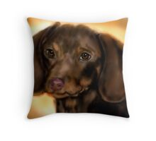 Dachsund Throw Pillow