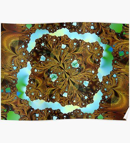 Fractal Wood Carving Poster