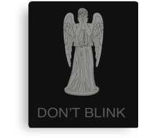 Weeping Angel -Don't Blink Canvas Print