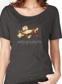 Calvin and Hobbes Resting Women's Relaxed Fit T-Shirt