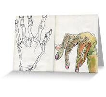 Egon Schiele Hands Greeting Card