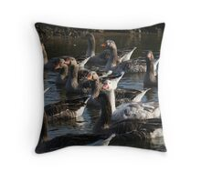 A Bit Crowded Throw Pillow
