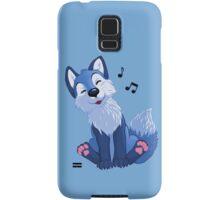 Blue singing, swinging foxy Samsung Galaxy Case/Skin