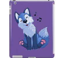 Blue singing, swinging foxy iPad Case/Skin