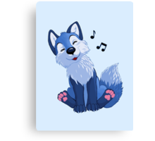 Blue singing, swinging foxy Canvas Print