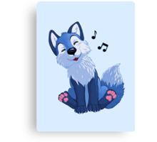 Blue singing, swinging foxy Canvas Print