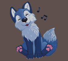 Blue singing, swinging foxy by EosFoxx