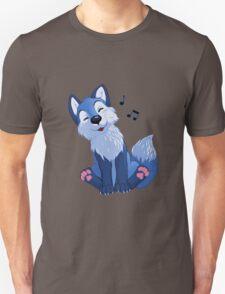 Blue singing, swinging foxy Unisex T-Shirt