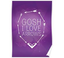 Gosh I Love Arrows Poster