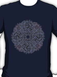 lace circle_blue T-Shirt