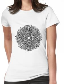 lace circle_black Womens Fitted T-Shirt
