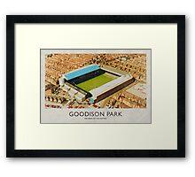 Vintage Football Grounds - Goodison Park (Everton FC) Framed Print