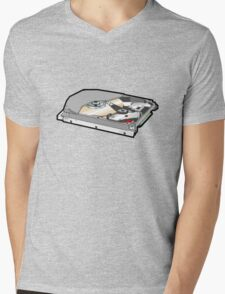 COMPUTER HARD DISK Mens V-Neck T-Shirt