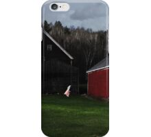 Nightgown on the Wash Line at Broadacres Farm iPhone Case/Skin