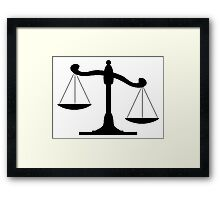 Scale Of Justice Framed Print