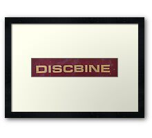 HDR Composite - Discbine Farm Equipment Sign Framed Print