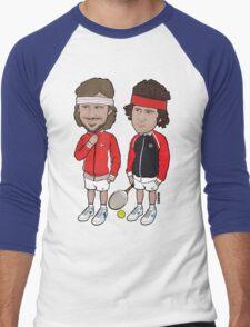 Borg and McEnroe Men's Baseball ¾ T-Shirt