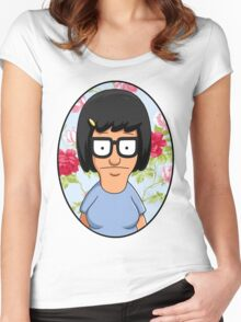Tina Belcher Floral Women's Fitted Scoop T-Shirt