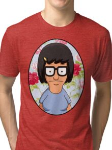 Tina Belcher Floral Tri-blend T-Shirt