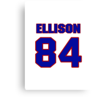 National football player 'Omar Ellison jersey 84 Canvas Print