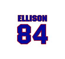 National football player 'Omar Ellison jersey 84 Photographic Print