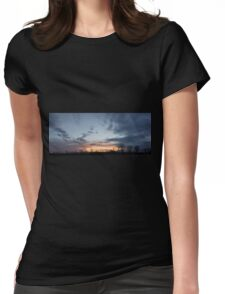 HDR Composite - Fading Sunset and Tree Silhouettes Womens Fitted T-Shirt