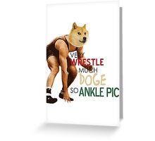 Wrestle Doge Greeting Card