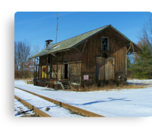 Old Train Depot Canvas Print