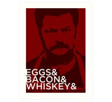 Swanson And Art Print