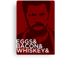 Swanson And Canvas Print