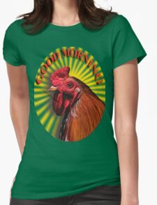 Sunrise Rooster Womens Fitted T-Shirt