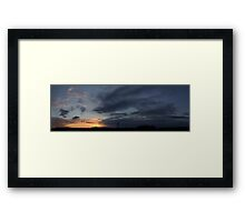 HDR Composite - Fading Sunset Framed Print