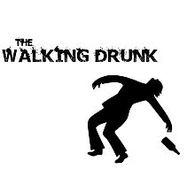 The Walking Drunk Falling Photographic Print