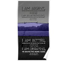 I am absent - 'Poem' Poster  Poster