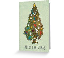Vintage Christmas Tree Greeting Card