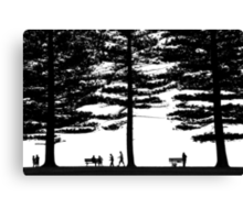 Stories under the trees Canvas Print