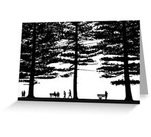 Stories under the trees Greeting Card