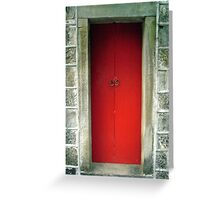 Red Door Abandoned Greeting Card