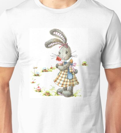 rabbit sweet baker. illustration, watercolor, Unisex T-Shirt