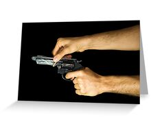 Think Before You Shoot Greeting Card
