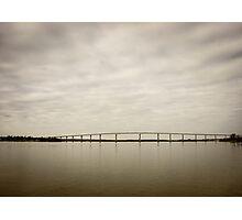 Bridge over a quiet river Photographic Print