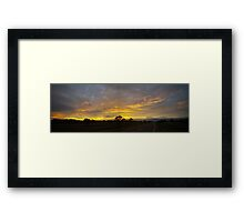 WIDE SCREEN SUNRISE Framed Print