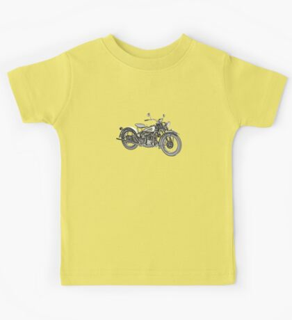 1941 Indian Scout 741 Motorcycle Kids Tee